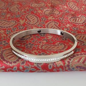Silver rhinestone bangle